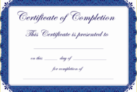 35 Free Premarital Counseling Certificate Of Completion with regard to Amazing Marriage Counseling Certificate Template