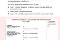 37 Blank Death Certificate Templates 100 Free ᐅ Templatelab inside Free Fake Death Certificate Template