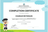 37 Free Download For Best Designs Of Certificate Of for Kindergarten Certificate Of Completion Free