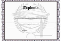 37 High School Diploma Template Doc  Pdf  Images with regard to Editable Certificate Social Studies
