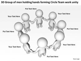 3D Group Of Men Holding Hands Forming Circle Team Work with regard to All Hands Meeting Agenda Template