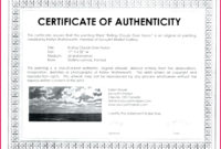 4 Certificate Of Authenticity Template Illustrator 67360 with regard to Photography Certificate Of Authenticity Template