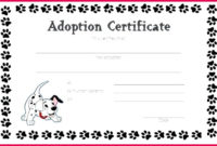 4 Free Pet Adoption Certificate Template 88758  Fabtemplatez with Printable Stuffed Animal Birth Certificate Templates