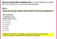 4 Golf Handicap Certificate Template 69940  Fabtemplatez inside Golf Certificate Templates For Word