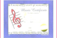 4 Music Certificate Templates Free 43078  Fabtemplatez within Amazing Choir Certificate Template