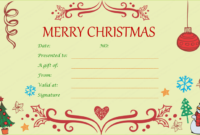 40 Awesome Christmas Gift Certificate Templates To End inside Quality Homemade Gift Certificate Template
