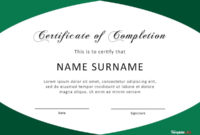 40 Fantastic Certificate Of Completion Templates Word pertaining to Best Certificate Of Completion Word Template
