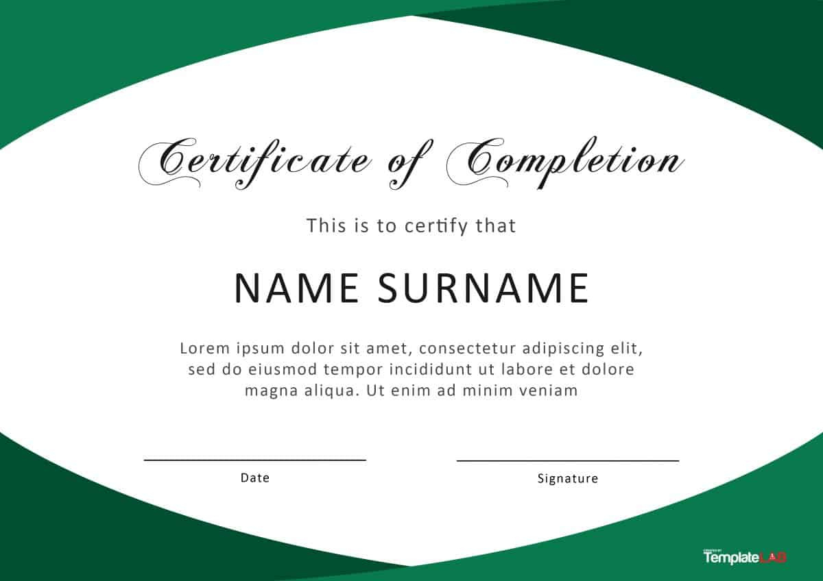 40 Fantastic Certificate Of Completion Templates Word with regard to Printable Free Certificate Of Completion Template Word