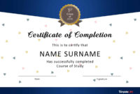 40 Fantastic Certificate Of Completion Templates Word within Leaving Certificate Template