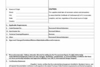 40 Free Certificate Of Conformance Templates  Forms ᐅ In regarding Conformity Certificate Template
