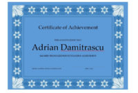 40 Great Certificate Of Achievement Templates Free throughout Certificate Of Achievement Template Word