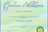 42 Best Adoption Certificate Templates Images On Pinterest for Cat Birth Certificate Free Printable