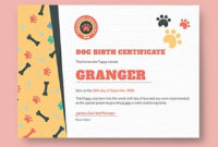 435 Free Certificate Templates  Download Readymade inside Amazing Pet Birth Certificate Templates Fillable