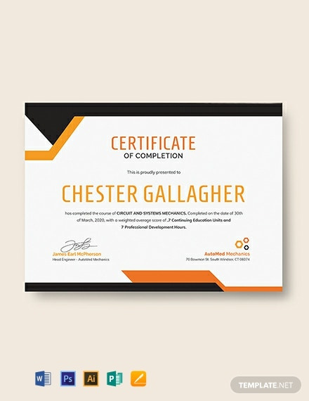 435 Free Certificate Templates  Download Readymade inside Free Training Completion Certificate Templates