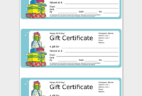 44 Free Printable Gift Certificate Templates For Word  Pdf in Present Certificate Templates