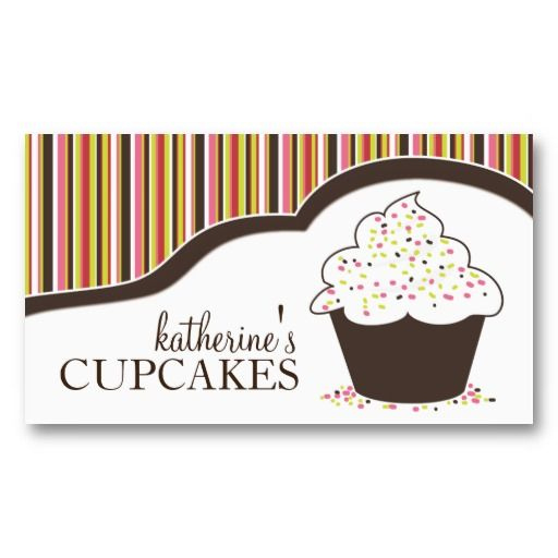 46 Best Customizable Cupcake Business Cards Images On intended for Cupcake Certificate Template Free 7 Sweet Designs
