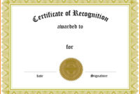 5 Certificate Of Recognition  Ledger Review with Awesome Template For Recognition Certificate
