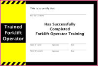 5 Forklift Truck Certificate Template 28341  Fabtemplatez for Amazing Forklift Certification Card Template