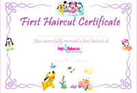 5 Free First Haircut Certificate Template 20885  Fabtemplatez throughout Quality First Haircut Certificate