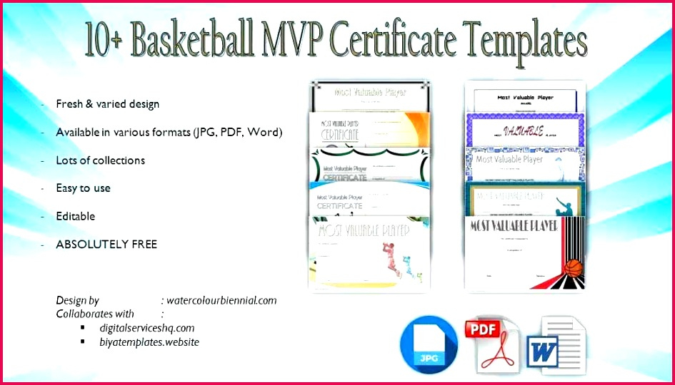 5 Free Mvp Certificate Templates 41138  Fabtemplatez pertaining to Quality Basketball Mvp Certificate Template