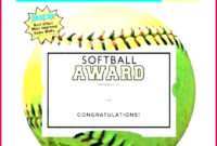 5 Free Softball Award Certificate Template 94294 in Softball Award Certificate Template