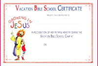 5 Free Vacation Bible School Certificate Templates 88183 with regard to Free Vbs Certificate Templates