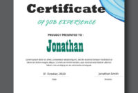5 Job Experience Certificate Template For Free  Mous Syusa in Awesome Certificate Of Experience Template