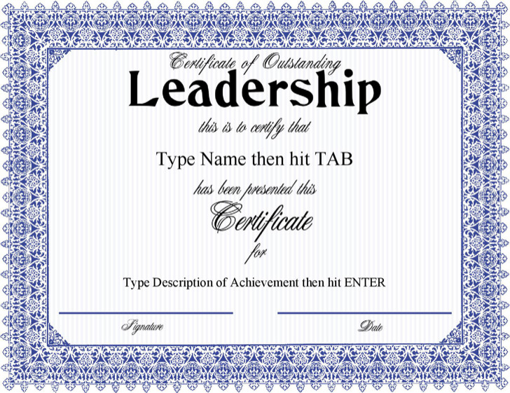 5 Leadership Certificate Templates Free Download regarding Leadership Award Certificate Template
