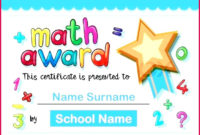 5 Math Certificates For Students Templates 14986 pertaining to Star Naming Certificate Template