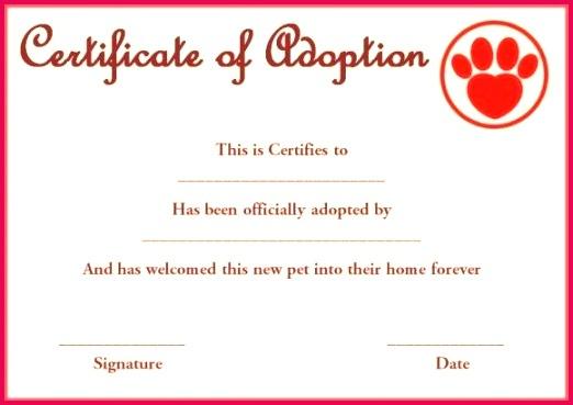 5 Pet Birth Certificate Template Printable 17444 regarding Amazing Stuffed Animal Adoption Certificate Template Free
