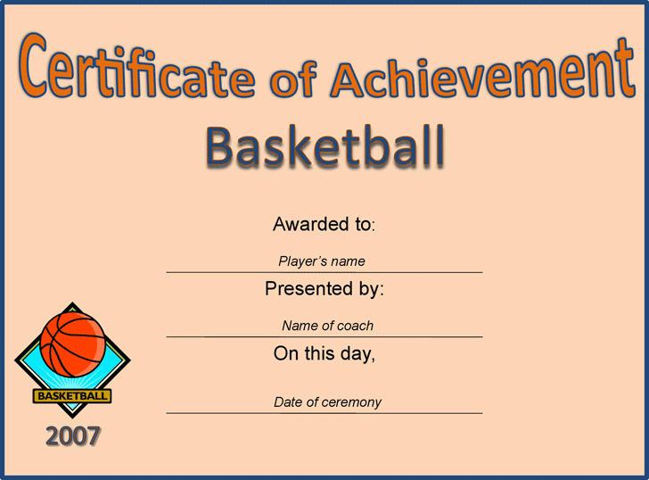 5 Sports Certificates Free Download regarding Quality Basketball Mvp Certificate Template