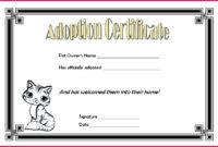 5 Toy Adoption Certificate Template 18769  Fabtemplatez in Free Kitten Birth Certificate Template