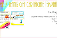 5 Walking Certificate Templates Customizable 85563 with regard to Tennis Gift Certificate Template