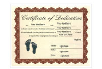 50 Free Baby Dedication Certificate Templates  Printable in Baby Dedication Certificate Template