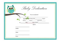 50 Free Baby Dedication Certificate Templates  Printable intended for Free Printable Baby Dedication Certificate Templates