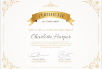 50 Free Creative Blank Certificate Templates In Psd within Blank Certificate Of Achievement Template
