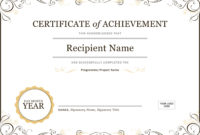50 Free Creative Blank Certificate Templates In Psd Within within Training Certificate Template Word Format