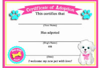 50 Off Sale Puppy Dog Adoption Certificates Instant with regard to Quality Puppy Birth Certificate Free Printable 8 Ideas