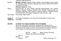 501C3 Board Meeting Minutes  Fill Out Print  Download pertaining to Amazing Community Meeting Agenda Template