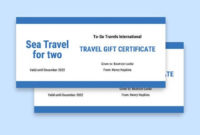 55 Free Gift Certificate Templates  Word Doc  Psd for Free Travel Gift Certificate Template