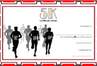 5K Certificate Of Completion Template Free 3 Di 2020 pertaining to Finisher Certificate Templates