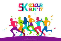 5K Color Run Template Free Vector Download Free Vectors In within Amazing 5K Race Certificate Templates