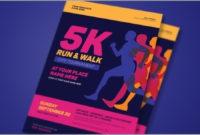 5K Run  Walk Event Flyer 3971305  Freepsdvn intended for Amazing 5K Race Certificate Templates