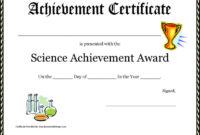 6 Appreciation Award Templates Free Download in Science Achievement Certificate Templates