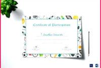 6 Badminton Participation Certificate Template 96648 regarding Free Badminton Certificate Template