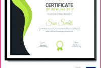 6 Bowling Certificate Template Free 31139  Fabtemplatez in Awesome Badminton Certificate Templates