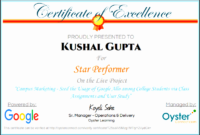 6 Certificate Of Project Completion Template with Awesome Star Performer Certificate Templates