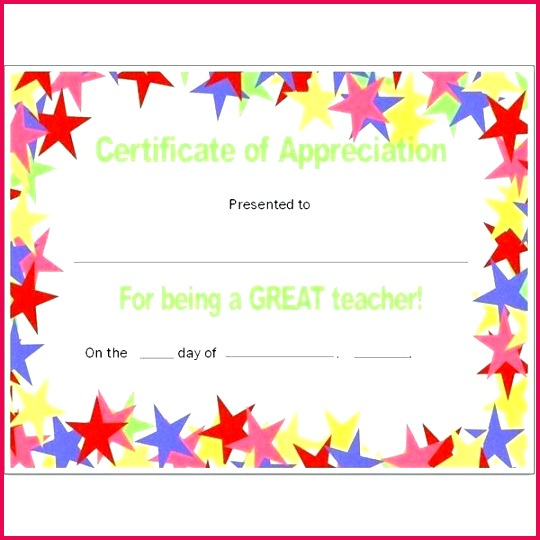 6 Certificate Of Teacher Appreciation Templates 31137 with regard to Teacher Of The Month Certificate Template