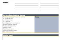 6 Daily Agenda Templates  6 Free Word Pdf Documents inside Printable Meeting Agenda Template Word Free