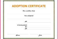 6 Fake Adoption Certificate Templates 54813  Fabtemplatez intended for Free Dog Adoption Certificate Template